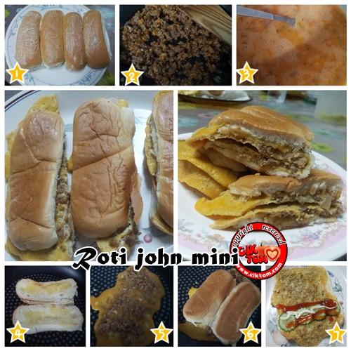 Jom Buat Roti John Mini Cara Mudah
