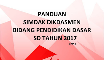 Panduan SIMDAK SD Tahun 2017 Untuk Lapor DAK Online