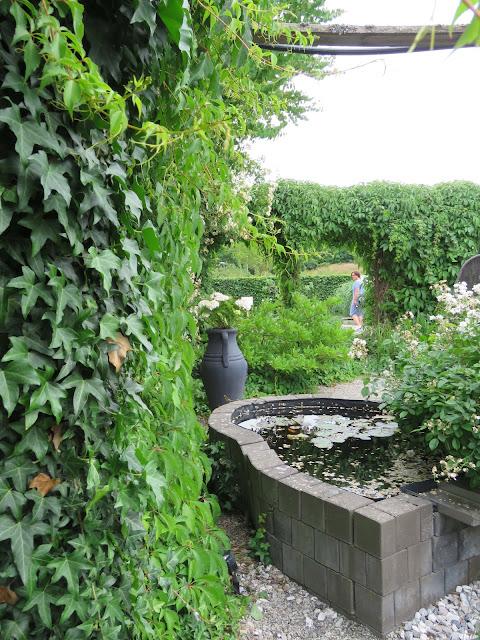 Dam og to pergolaer i my whiye garden, trädgårdsrundan, Helsingborg