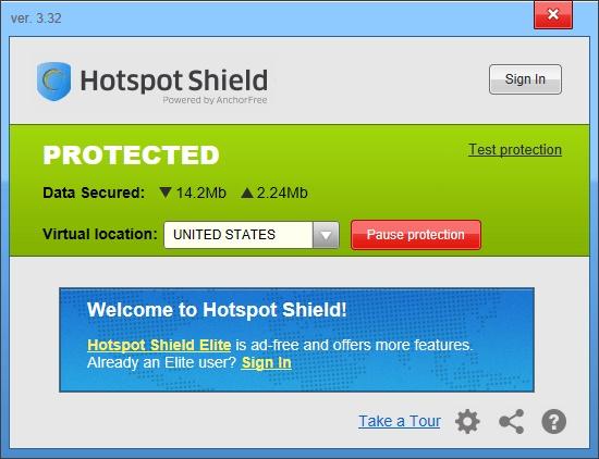 Tech O Blog : Hotspot shield : Free VPN service
