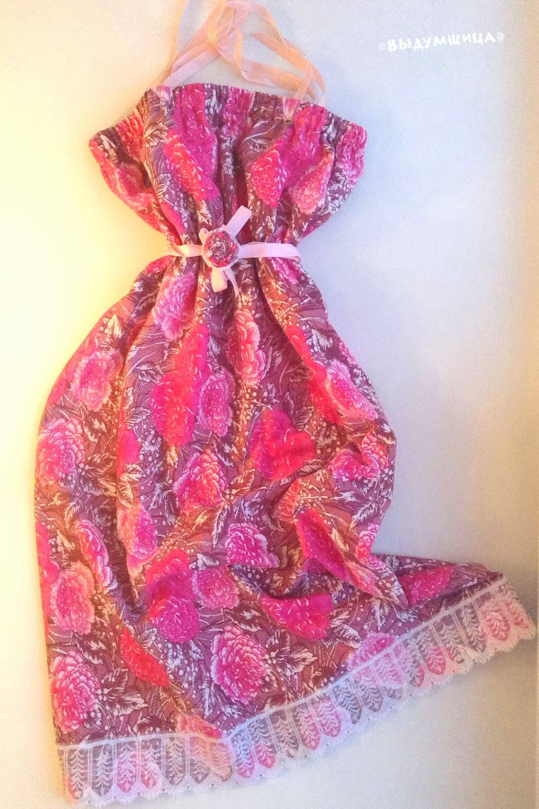 платье с кружевами и розочками