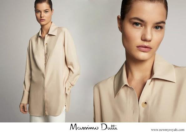 Queen Maxima wore Massimo Dutti Shirt