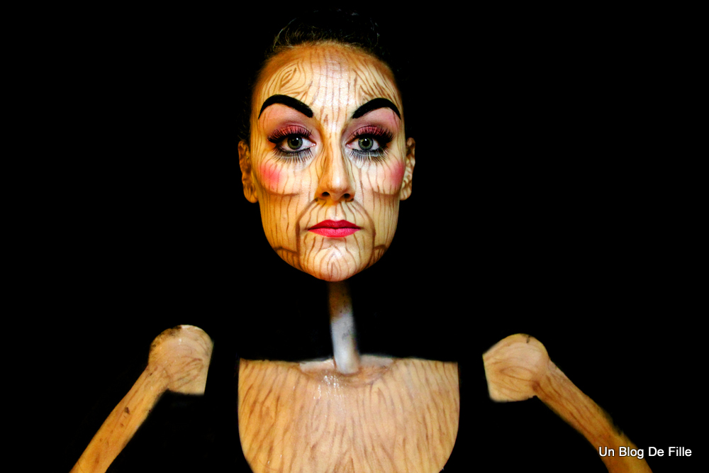 Maquillage Artistique Halloween.Un Blog De Fille Maquillage Artistique Marionnette En Bois Halloween