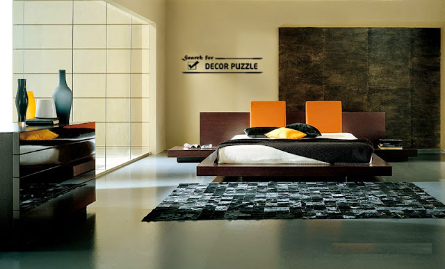 Japanese bedroom furniture design in modern minimalist style