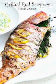 simply gourmet grilled red snapper