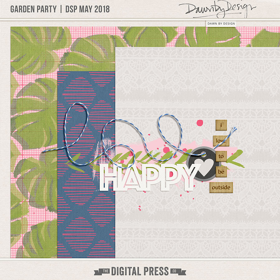 Garden Party | May 2018 Digiscrap Parade