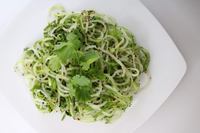 Sesame Cucumber Noodle Salad by From Pasta to Paleo