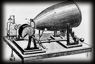 Figura 1. Un fonógrafo. Dibujo de la época.