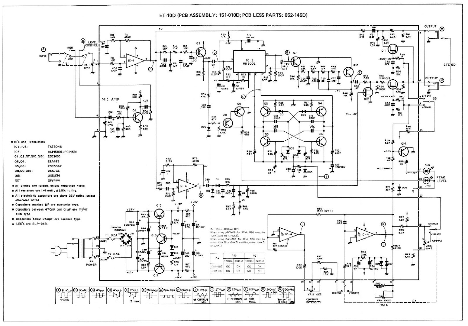 John Frusciante Red Hot Chilli Peppers La Rvolution Deux Audio Amplifier Circuit Diagram Supreem Circuits And The Roland Boss Ce 1 Schematic
