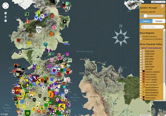 Isso Não é Apenas Um Mapa De Game Of Thrones Sintonia Geek Magazine