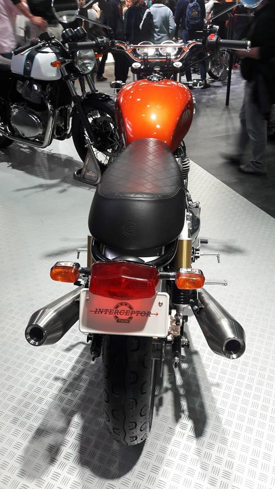 Motorcycle at exhibition.