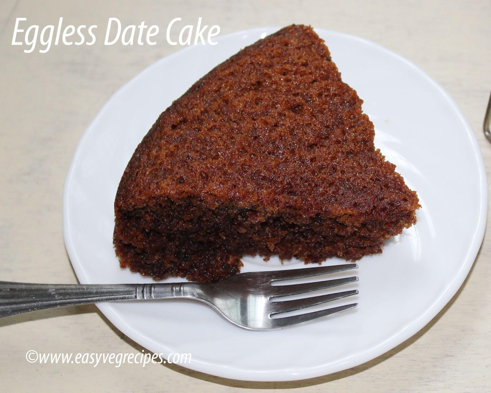 Eggless Date Cake
