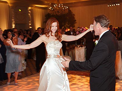Red Carpet Wedding Marcia Cross And Tom Mahoney Red