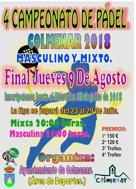 IV Campeonato de Pádel de Colmenar