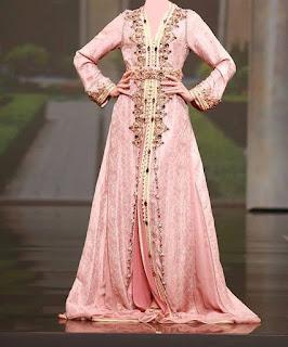 caftan mariée rose