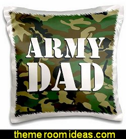 Patriotic - Army Dad Green Camouflage Pillow Case