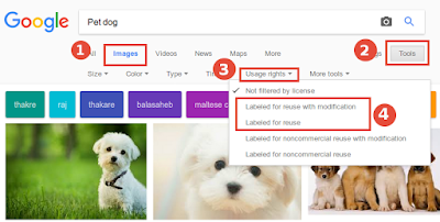 How to find copyright free images from Google search images