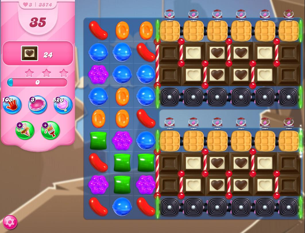 Candy Crush Saga level 3874