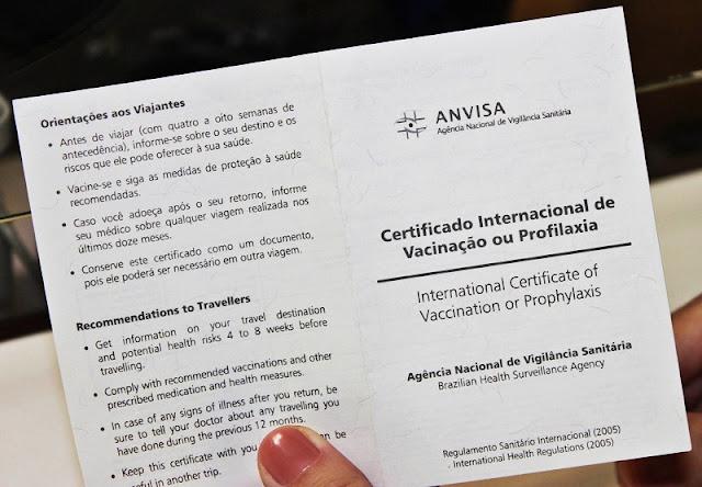 Preciso do certificado de vacinação internacional para entrar na Argentina?