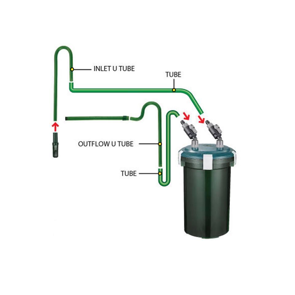 Lọc thùng odyssea CFS 330 thích hợp cho bể thủy sinh hay bể có có thể tích 120-180 lít nước