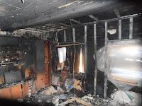 (ФОТО)В посёлке Алтынай произошел пожар, причина короткое замыкание электропроводки