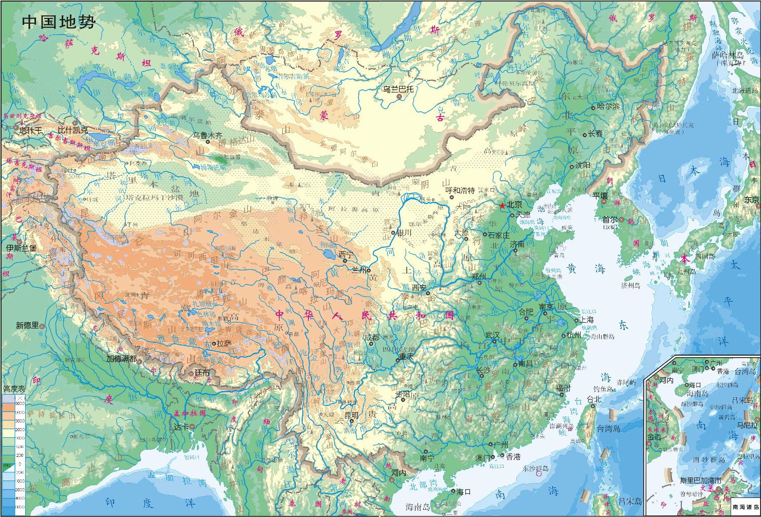 Map Of China Geography Area