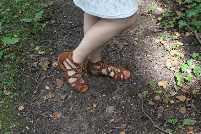 sandales lacets camaieu