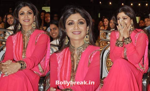 Shilpa Shetty in Red, Bollywood Celebs Style Check at Mumbai Police Umang 2014