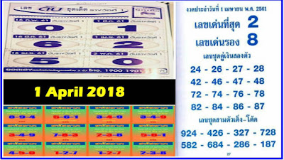 Thailand Lottery Master 3UP Teach Formula Tips 1 April 2018