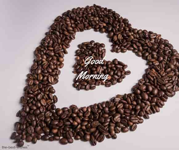 awesome good morning pic with heart