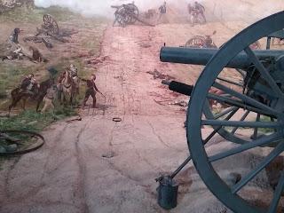 Gettysburg cyclorama detail: canon in diorama.