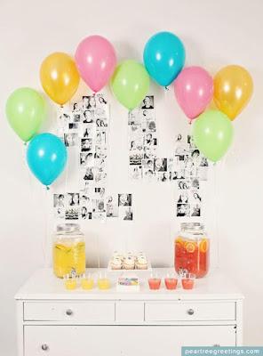decorar decora decoração festa aniversario bola balão balões bexiga bexigas enfeite enfeitar mesa bolo lindo facil simples barato criativo clean