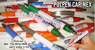 pulpen sablon carinex, Pulpen Kotak Karinex, BP Carinex, BP Karinex, Pen Segiempat Promosi