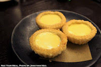 Flaky Egg Tart at Mott 32 in Hong Kong