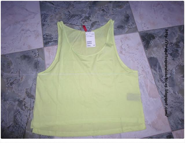 camiseta fluor color amarillo