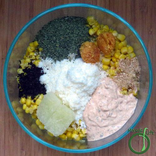 Morsels of Life - Mexican Corn Salad Step 2 - Combine all materials.