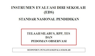 Format EDS Telaah Silabus, RPP, Tes dan Pedoman Observasi