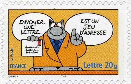 Karta pocztowa - nagłówek - Francuski przy kawie