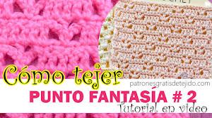 Cómo Tejer Punto Fantasía Calado a Crochet / Tutorial en Español