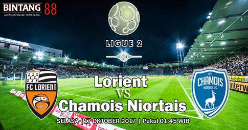 PREDIKSI SKOR Lorient vs Chamois Niortais  17 OKTOBER 2017