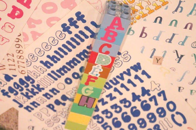 alphabet activity using LEGOs
