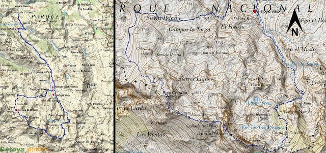 map de la ruta