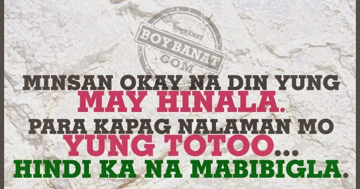 Tagalog Text Love Quotes and Messages ~ Boy Banat