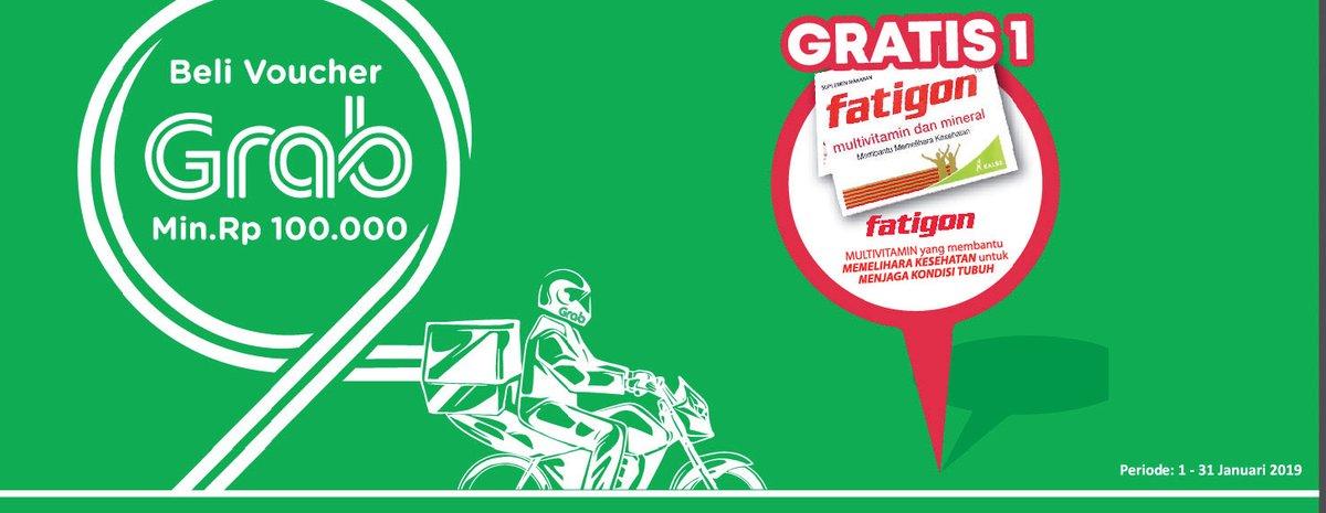 #Alfamidi - Promo Beli Voucher Grab Min 100K Gratis Fatigon (s.d 31 Jan 2019)