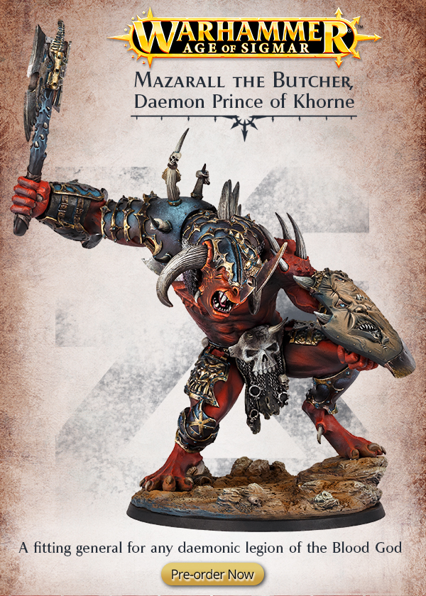 Forge World: Warhammer Age of Sigmar - Mazarall the Butcher, Daemon Prince of Khorne