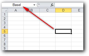 Nama lain sel di Ms Excel