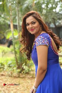 Actress Ashwini Stills in Blue Chudidar at Ameerpet Lo Release Press Meet  0089.JPG