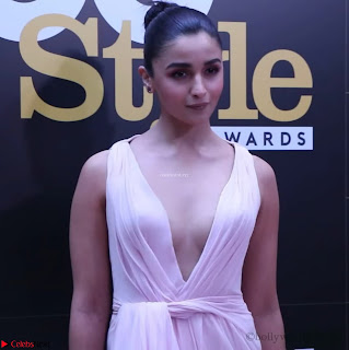 Alia Bhatt looks beautiful stunning in a Light Pink Deep neck Gown ~ Exclusive 006