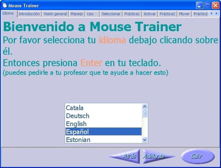 Manejo del ratón con Mouse Trainer - Computación para niños
