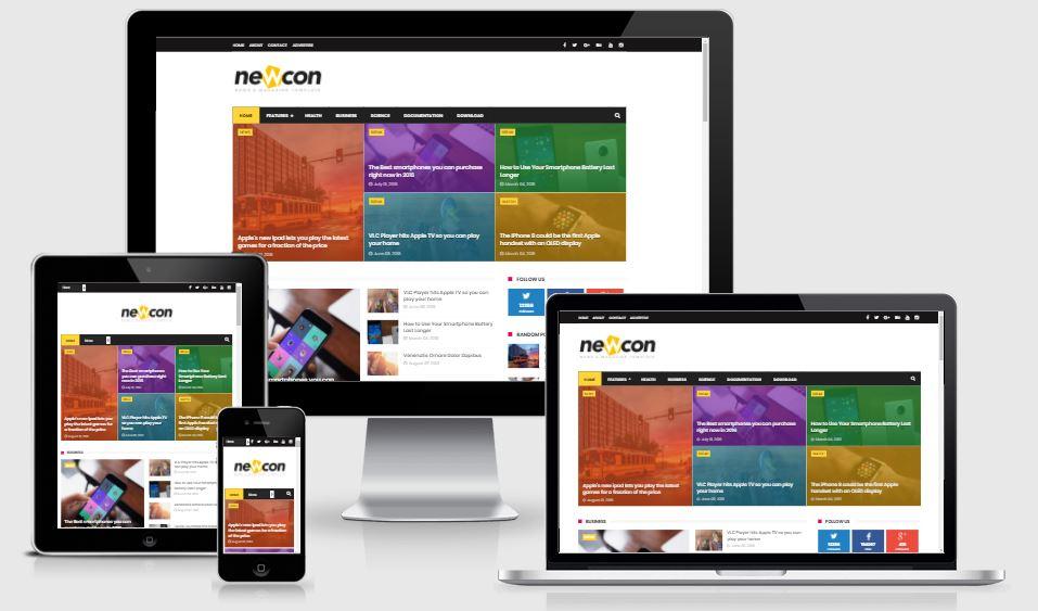 Newcon Magazine Responsive Blogger Template